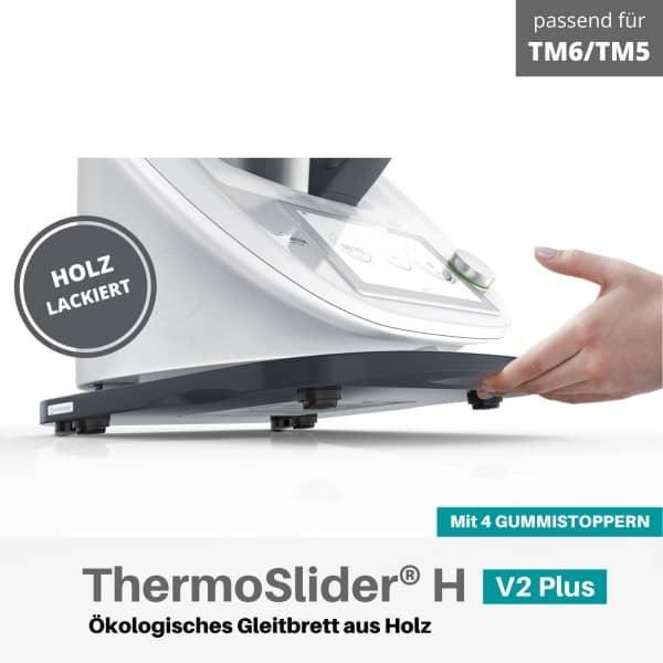 ThermoSlider V2 Plus Premium Gleitbrett für Thermomix TM6 und TM5 in graphitgrau